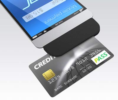 using a mobile swiper to process a credit card payment