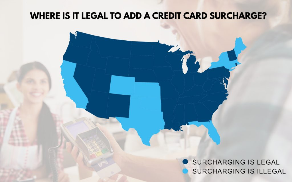 map of where it is legal to add a surcharge
